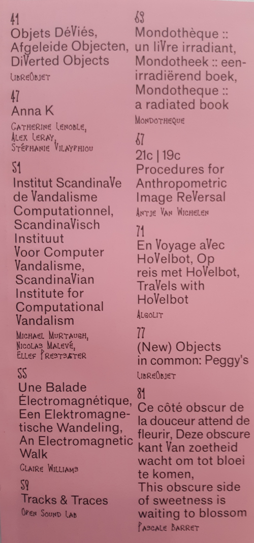 Constant_V catalogue